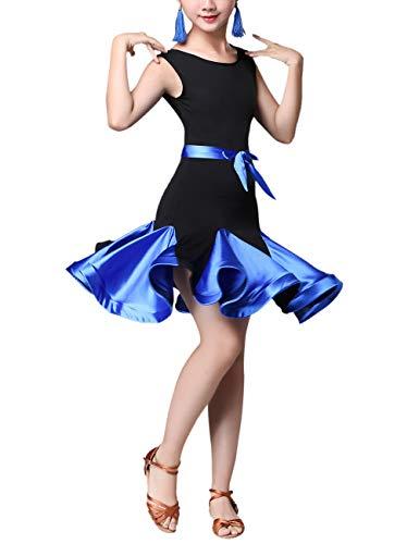 Kinderdansjurk Meisjes Dansjurk Ballet Latin Rumba Samba Jurk Rokken Mouwloos Mode Danskleding Carnaval Kostuum Zomerjurk voor Kind en Vrouwen