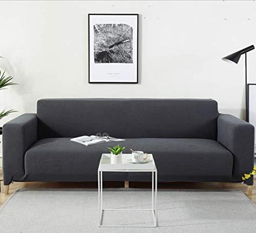 ELLEXIR Stretch Slipcovers Couch Couch Couvre Couvre Housse de canapé 3 Places Anti-Rides pour Chien Protecteur et Votre Protection de canapé (Gris foncé)