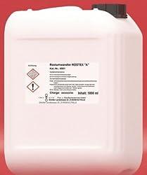 ROSTEX A, Flasche mit 1 l Inhalt, flüssiger Entroster, Rostumwandler, Rostschutz mit Tiefenwirkung