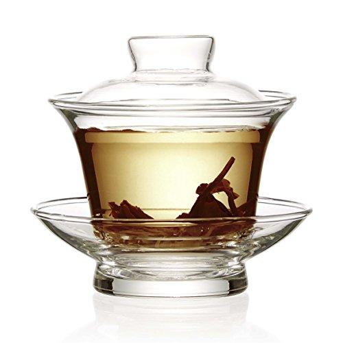 1 X Les fabricants de London Tea traditionnel chinois Gaiwan- en verre transparent 100 ml
