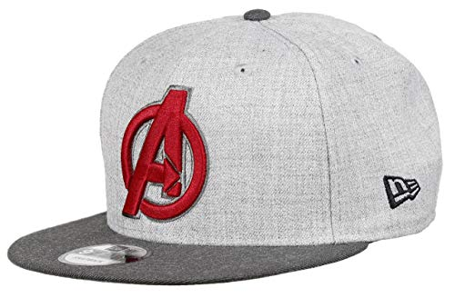New Era Avengers 9fifty Snapback Cap Comic Graphite Heather Graphite - One-Size