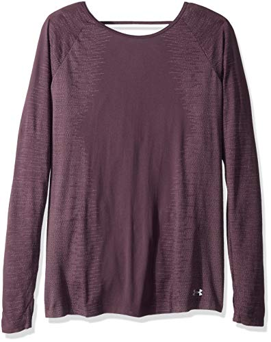 Under Armour Women's Tb Seamless Long sleeve Tee, Pixel Purple (509)/Metallic Silver, X-Large -  Under Armour Apparel, 1318044-509-XL