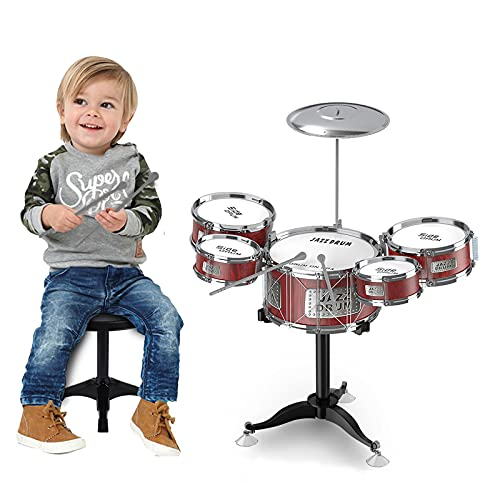 Pozico Small Drum Sets Music Toys Percussion Instruments for Kids 1- 3 Years Old Boys Girls with 5...