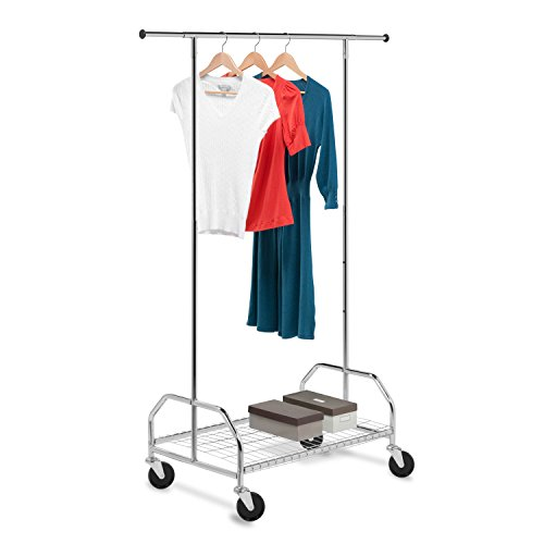 Big Sale Honey-Can-Do Bottom Shelf Expandable Chrome Garment Rack