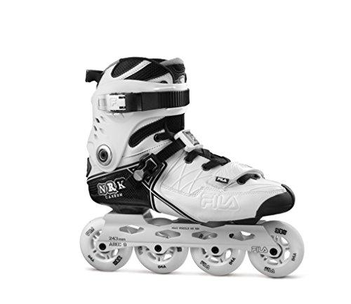 FILA NRK Carbon Inline Skate, weiß/Schwarz, UK 9,5