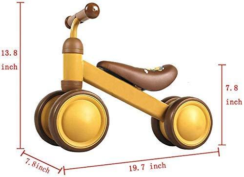 Veiligheidscadeau Kinderfietsen Baby-balanceerwagen, Geen pedaal-scooter Baby-loopwagen Kinderwagen (kleur: geel, maat: 19,7 inch)