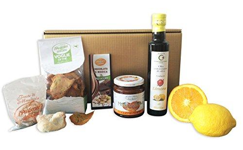 Sizilien Geschenk Set Passione Siciliana Pistacchio mit sizilianischen Delikatessen und ausgesuchten italienischen Pistazien-Zitronen Spezialitäten