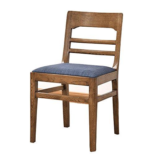 LHA Seat Full Solid Holz Esszimmerstuhl Stoff Soft Bag Stuhl Einfache Moderne Studie Restaurant Möbel White Oak Chair (Farbe : Walnut Farbe)