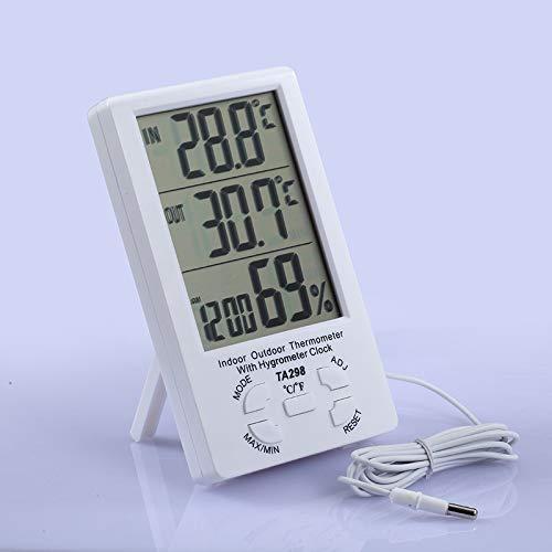 Medidor Digital De Temperatura Y Humedad Interior Higrómetro De Temperatura Interior S/F Laboratorio De Oficina De La Sala Al Aire Libre