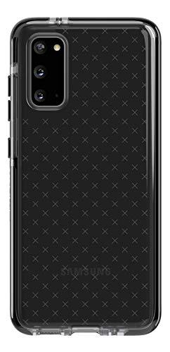 tech21 Evo Check Schutzhülle für Samsung Galaxy S20 5G, mit Sturzschutz und antimikrobiellem BioShield, Galaxy S20, Schwarz/Smokey