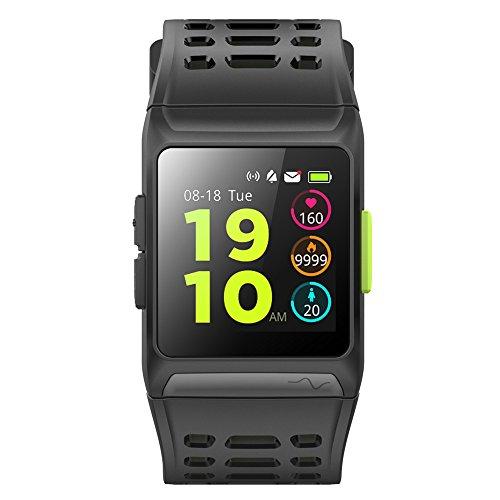 Relojes deportivos inteligentes Bluetooth GPS, Farsler ritmo cardíaco ECG Monitorización Táctil Digital Reloj Inteligente para Hombre, Correr Reloj 50M Impermeable Calorías Podómetro Color Pantalla al