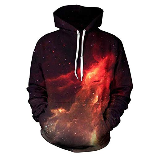 Mens Hoodie Unisex Tops Long Sleeve 3D Galaxy Graphic Printed Fancy Hoody Sweatshirts Pocket Stylish Hooded Tops Lightweight Comfortable Drawstring Hip hop Style Streetwear Womens Sweatshirts XL