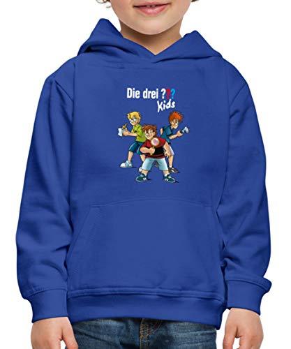 Die DREI Fragezeichen Kids Detektive Spürnasen Kinder Premium Hoodie, 134-146, Royalblau