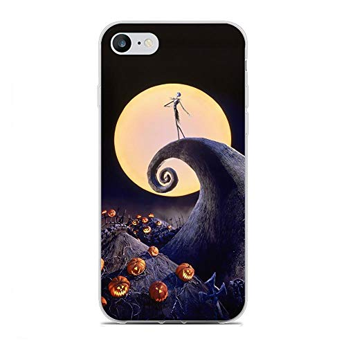 X-Art Transparent Fundas Slim Liquid Flexible Case Back Cover For Apple iPhone 6 Plus/6s Plus-Christmas-Nightmare Jack-Skellington 6
