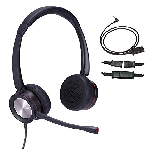 2.5mm Phone Headset for Panasonic Cordless Phone Corded Telephone Headset with Noise Cancelling Microphone for Office Landline KX-TGEA40 KX-TPA60 Cisco SPA 303G AT&T Uniden DCT6485 Vtech DS6151
