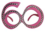 Occhiali con montatura di diamanti rosa 60 anni