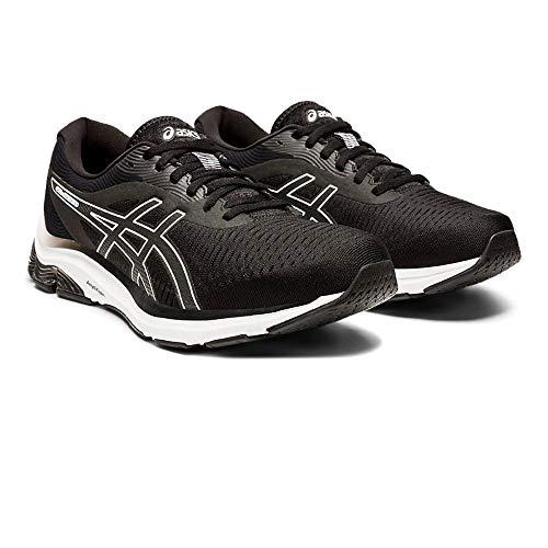 ASICS Herren Gel-Pulse 12 Running Shoe, Black/White, 45 EU