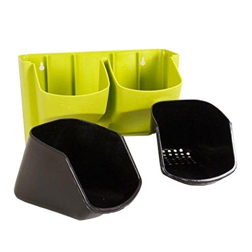 Sharplace Pots de Fleurs Bac d'arrosage Accessoires pour Plantes Auto Arrosage - Vert
