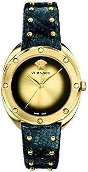 Versace Shadov Quartz Champagne Dial Ladies Watch
