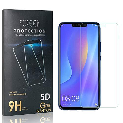 GIMTON Displayschutzfolie für Huawei P Smart Plus 2018, Ultra Dünn HD Panzerglasfolie mit 3D Touch, 9H Härte Schutzfilm aus Gehärtetem Glas für Huawei P Smart Plus 2018, 4 Stück