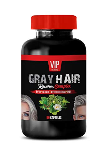 Grey Hair Vitamins for Men - Gray Hair Reverse Complex - Natural Solution - Powerful Results - 1 Bottle (60 Capsules)