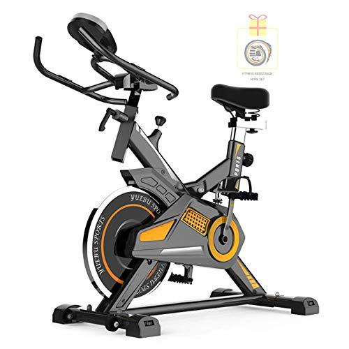 LJYY Bicicleta de Spinning para Interiores (envíe el Juego de Bandas de Resistencia física) con Pantalla multifunción Bicicleta de Ejercicios para el hogar Ultra silenciosa Bicicleta de Ejercicio