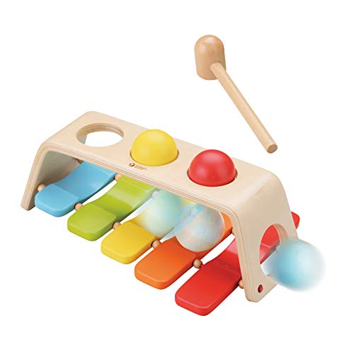 Classic World 2 in 1 Pound & Tap Bench Hammering Toy for 1 Year Baby Toddler Early Learning and Education
