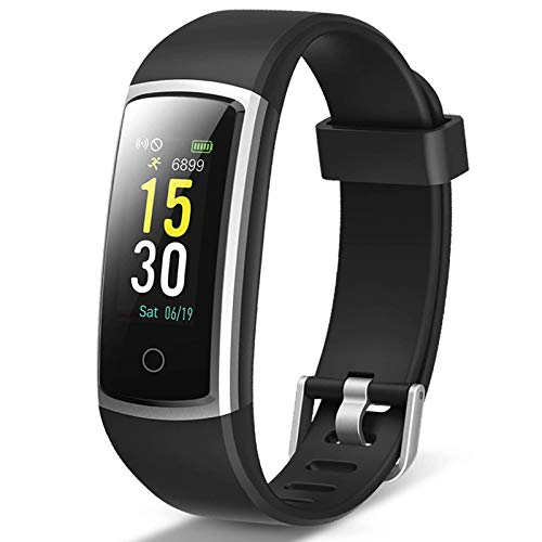 Lintelek Pulsera Actividad, Reloj Inteligente con Medidor de Ritmo Cardíaco Presión Arterial, Reloj Deportivo para Hombre Niño Mujer Compatible a Android y iOS