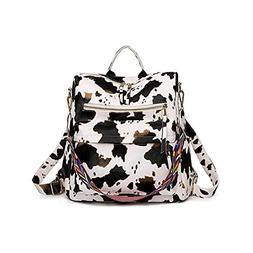 Mochila de las mujeres PU antirrobo casual bolso de hombro moda señoras Satchel Bolsas grande mochila J60D, color, talla Talla única