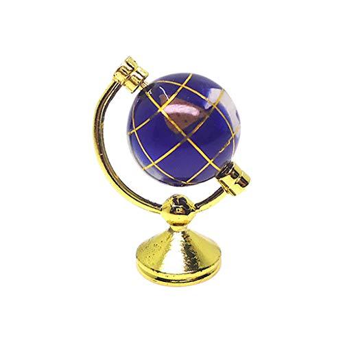 Tensay DIY 1:12 Puppenhaus Miniatur Szene Modell Globus Pretend Play Spielzeug, beste Geschenk für Mädchen Jungen Geburtstag Thanksgiving Weihnachten Neujahr, Dekoration Lernspielzeug