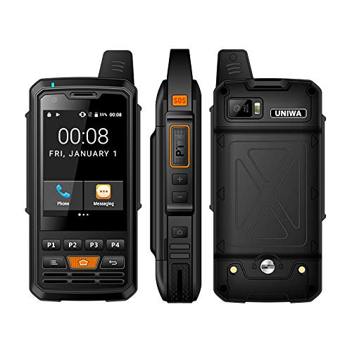 UNIWA Alps F50 Zello PTT Walkie Talkie 2.8 inches Touch Screen Quad Core MTK6735 1GB+8GB 4000mAh 4G LTE Android 6.0 Rugged Smartphone