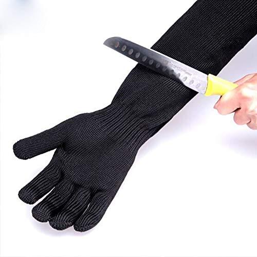 Cut-proof handschoenen, roestvrij staal draad gaas snijden slijtvaste beschermende handschoenen, niveau 5 veiligheid bescherming werk slager staal handschoenen