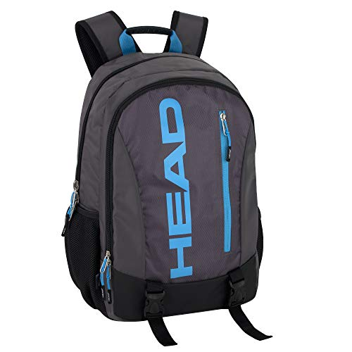 HEAD Waterproof Double Compartment Gym and Laptop Backpack for Men - Travel Backpack with Water Bottle Pockets