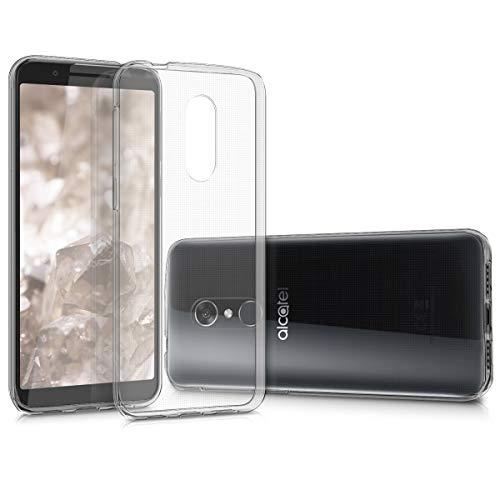 kwmobile Cover Compatibile con Alcatel 3   3L (2018) - Custodia in Silicone TPU - Back Case Cover Protezione Posteriore - Trasparente