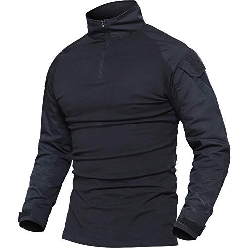 MAGCOMSEN T Shirts for Men with Pockets Army Shirt Tactical Shirts Men Tactical Jacket Combat Shirt T Shirts for Men T...