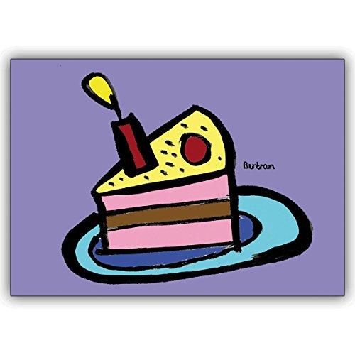 16 Geburtstagskarten (16er Set): Statt backen : verschicken Sie diese Geburtstagskuchen Karte zum Gratulieren • schöne Glückwunschkarte mit Umschlag für beste Freunde und Lieblingsmenschen
