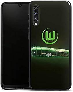 DeinDesign Hard Case kompatibel mit Samsung Galaxy A50 Schutzhülle schwarz Smartphone Backcover Offizielles Lizenzprodukt VFL Wolfsburg Stadion