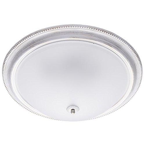 MW-Light 450013505 Shabby Chic Deckenlampe in Weiß Rund 5 Flammig Metall Glas