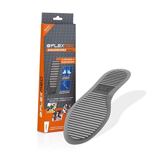 FLEXMED Einlegesohle für mehr Stabilität | Damen und Herren Schuheinlagen für bessere Gewichtsverteilung, Optimierte Kraftübertragung | Für Sport, Büro oder Freizeit (39, 1er-Set)