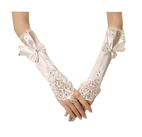 Frauen Braut Long Lace Handschuhe Elbow Fingerless Hochzeit Kostüm Prom - A3