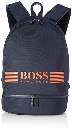 Hugo Boss Mochila Pixel_backp Pock para hombre, 9 x 30 x 16,5 cm, color Azul, talla 9x30x16.5 cm (B x H x T)
