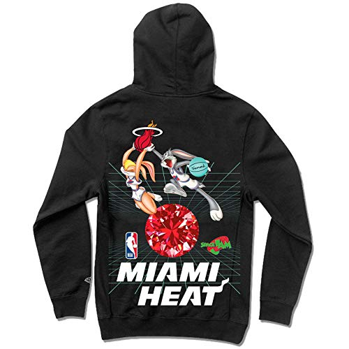 Diamond Supply Co. x NBA Space Jam 2 Men's Miami Heat Long Sleeve Pullover Hoodie Black 2XL