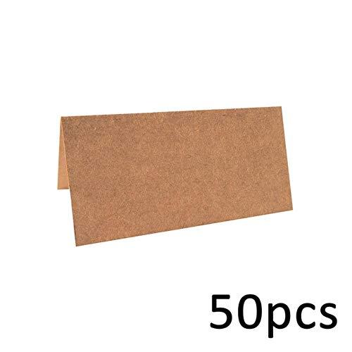 Piero 50 STUKS Blanco Kraftpapier Visitekaartjes Woordkaart Berichtkaart DIY Cadeaukaart Bruiloft Uitnodigingskaart, Wit