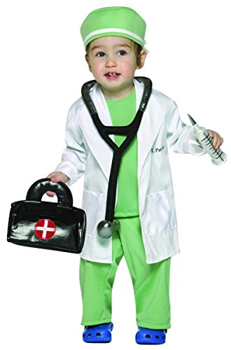 Rasta Imposta Future Doctor Costume, White/Green, 18-24 Months