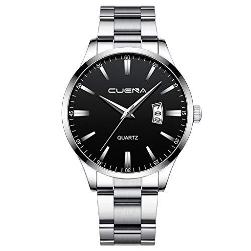 Quartz Uhr Herren Armbanduhr Datum Minimalistische Business Uhren mit Edelstahl Armband, Männer Wasserdicht Quarzuhr Mode Klassischer Herrenuhr Celucke