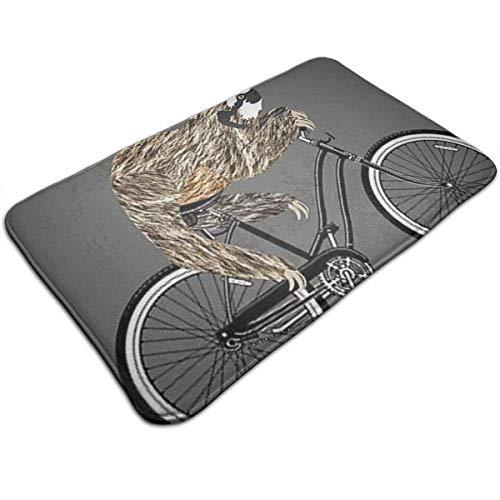 Felpudo Ciclismo Espuma de memoria Alfombrilla de baño Antideslizante Absorbente Súper acogedor Alfombra de baño Alfombra 40cm * 60cm