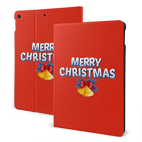 Merry Christmas New Ipad Case Fit 7th Generation/ Air3, Full-Body Trifold with Built-in Screen Protector Protective Smart Cover with Auto Sleep/Wake