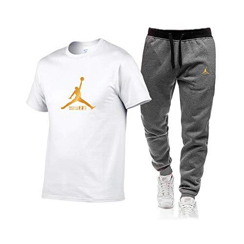 FZYQY T-Shirt Camiseta Informal para Hombre Algodón Largos Jogging Pantalón Deportivos con Bolsillos para Yoga Fitness Jogger Correr Casual cámping/D/XXXL
