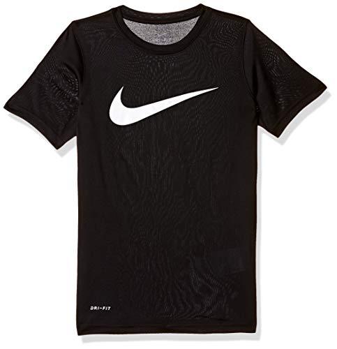 Nike Dry Swoosh Solid T-Shirt pour garçon L Noir/Blanc
