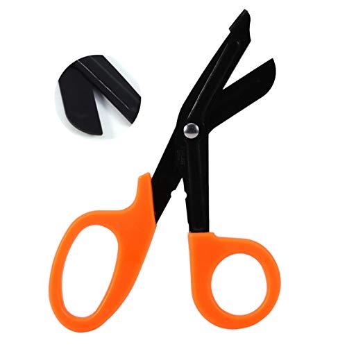 Fácil de poner Forth Strength, tijeras de primeros auxilios, tijeras para EMT y traumatología,(Orange)